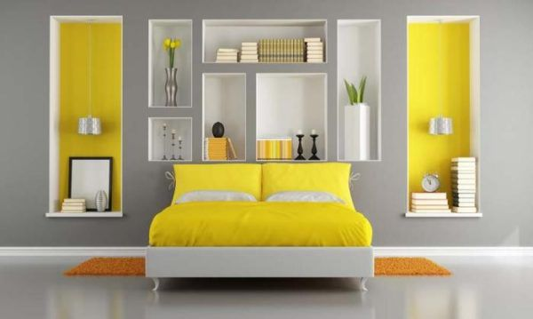 Ярко-желтый и серый в идеальном сочетании
