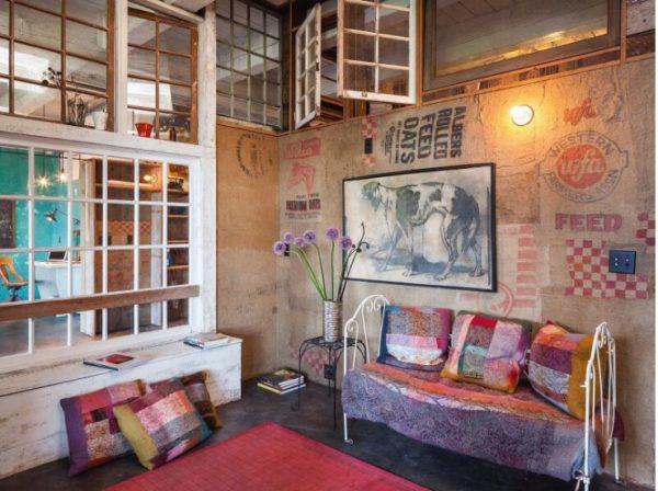 Интерьер комнаты в стиле Бохо Лофт