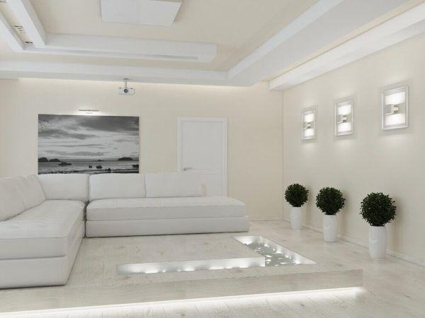Использование белого цвета, как базового, в сочетании с теплыми светлыми оттенками