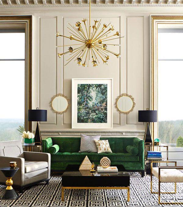 Комната в стиле арт-декор с применением зеркал в роскошных рамах