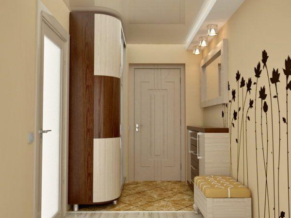 Вариант использования элементов декора в светло-коричневых тонах