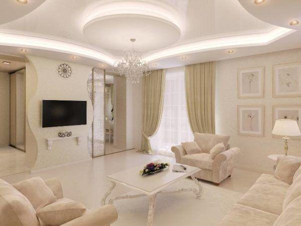 Интерьер комнаты с использованием бежевых оттенков