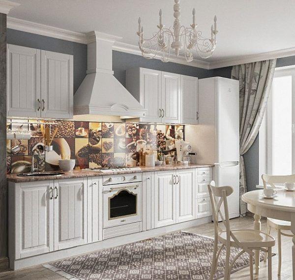 Светлая кухня в стиле прованс