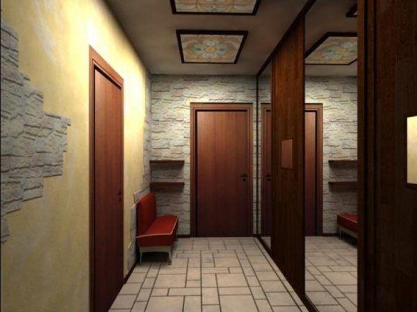 Расположение мебели вдоль той стены, которая имеет наибольшую протяженность от двери до двери