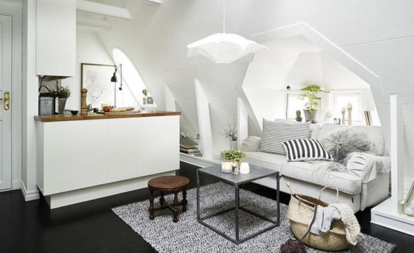 Особенностью скандинавского стиля является использование светлых оттенков в интерьере