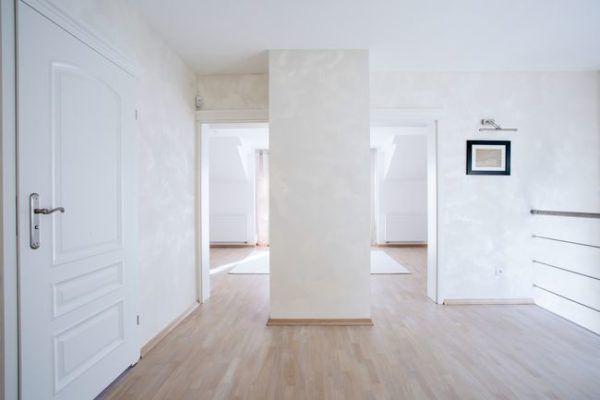 Сочетание белые стены/белые двери