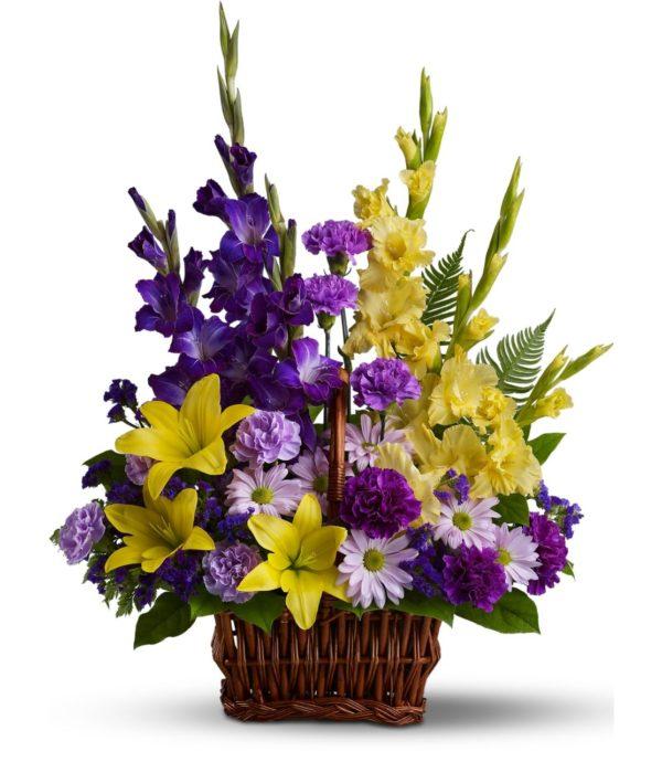 Букет с различными цветочными оттенками