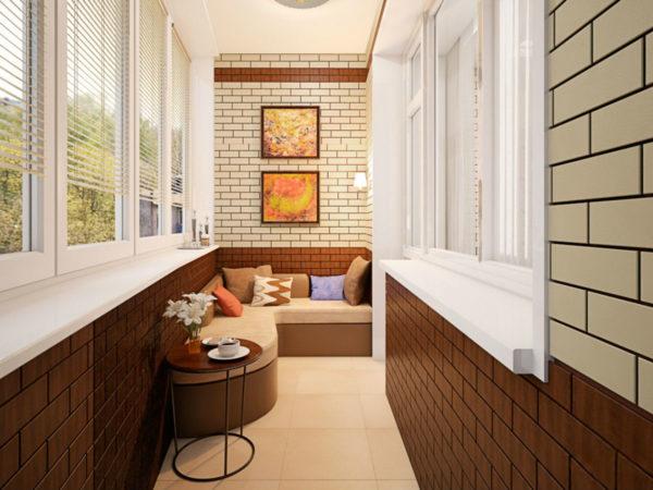 Внутренняя отделка лоджии или балкона