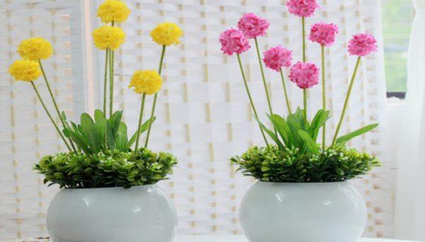 Высокие вазы подходят для цветков с удлиненными стеблями