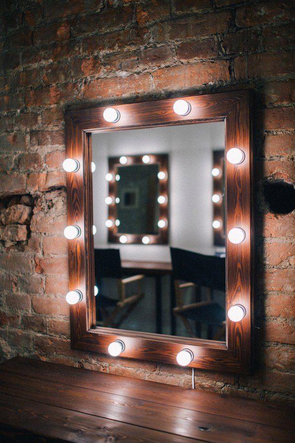 Зеркало со светодиодными лампами