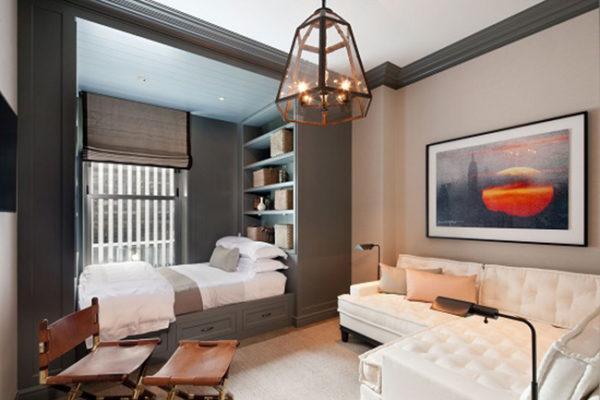Контрастные цвета в оформление комнаты