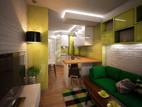 Кухня-гостиная в одном стиле