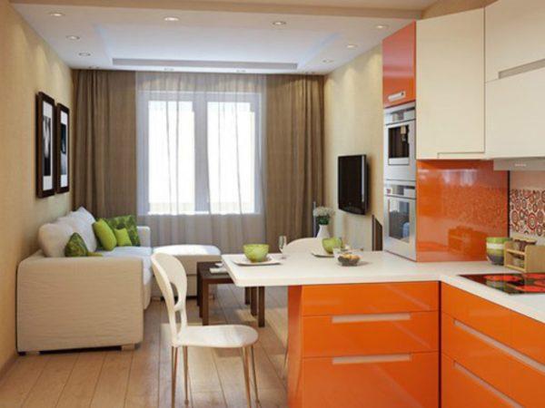 Кухня с ярко-выраженным цветом