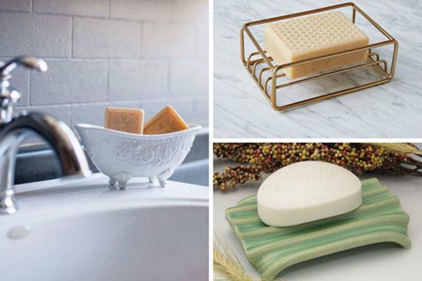 Наборы для ванной комнаты лучше выбрать металлические, стеклянные, мраморные, керамические, но не из пластика