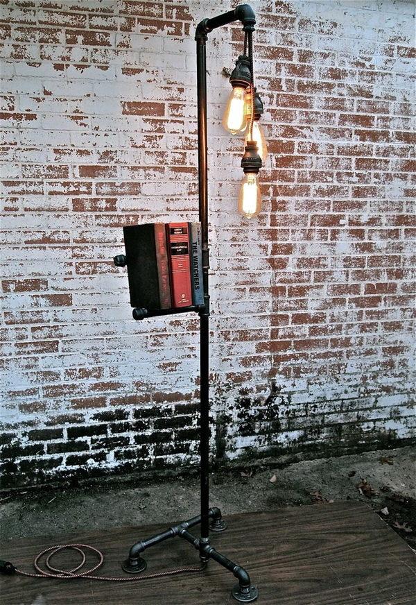 Напольный светильник с лампами Эдисона