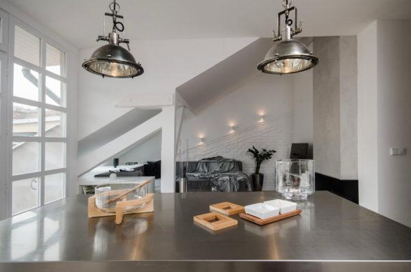 Подвесные металлические люстры в стиле Лофт