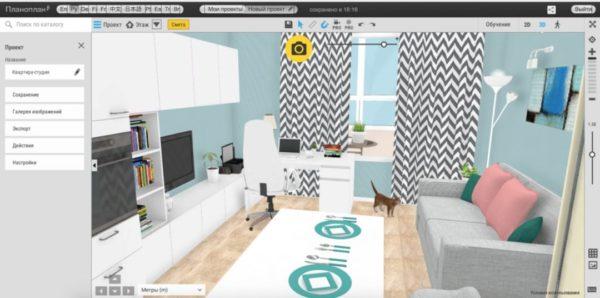 Приложение Планоплан для дизайна интерьера
