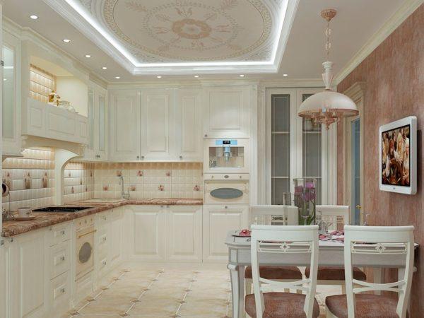 Прованский стиль кухни-гостиной