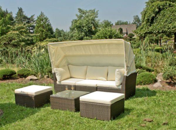 Садовый диван с балдахином