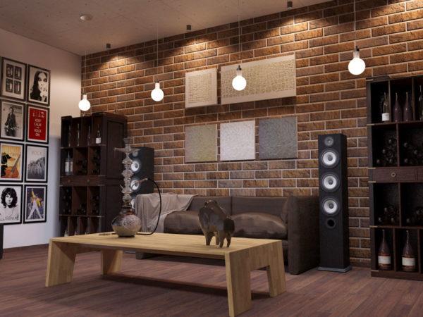 Стены, облицованные специальным декоративным кирпичом