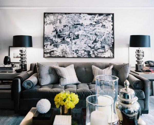 Черно-белая гамма декора