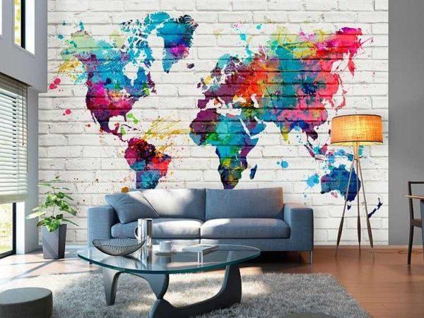 Яркие многоцветные полотна