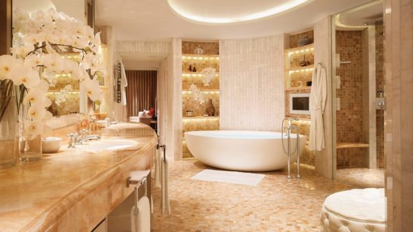 Красивый дизайн ванных комнат в частных домах