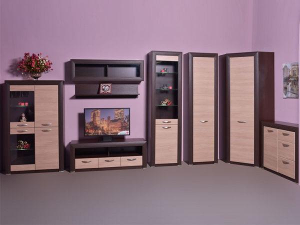 Предметы мебели из коллекции «Денвер» построены на принципе контрастов