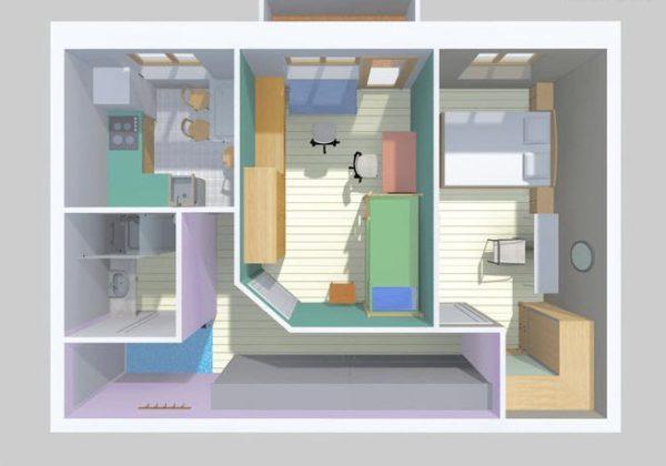 Для семьи с детьми лучше иметь изолированные комнаты