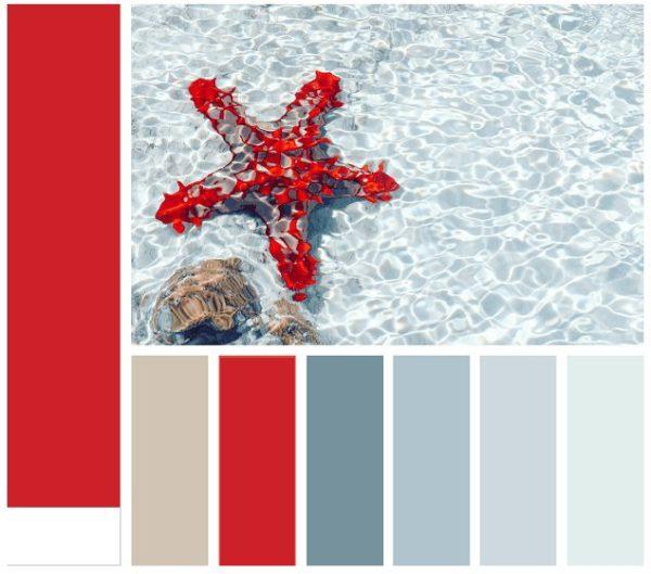 Естественные цвета, встречающиеся в природе средиземноморского побережья